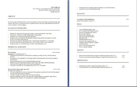 Personal Trainer Resume Sle Objective Personal Trainer Objective Statement 28 Images