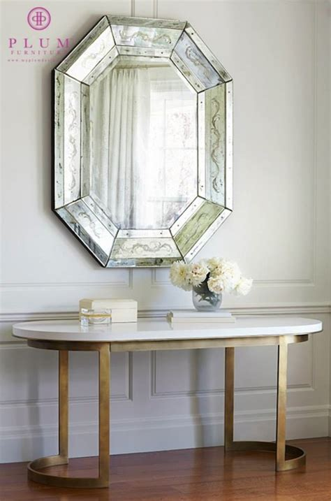 Foyer Mirror by Octagon Mirror Transitional Entrance Foyer Jeffers