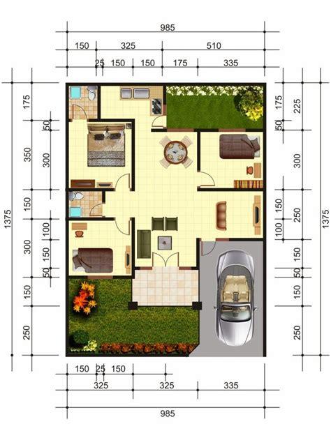 desain layout rumah type 54 denah rumah minimalis home sweet home pinterest