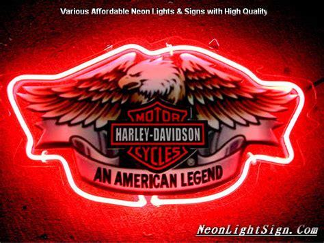 harley davidson neon light harley davidson motor cycle eagle an lege