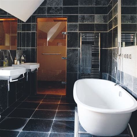 black tile bathroom ideas tiled bathroom with shower room black and white bathroom
