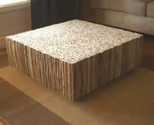 table basse carr 233 e bois flott 233 table basse design