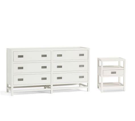dresser and bedside table sets lonny dresser bedside tables set pottery barn