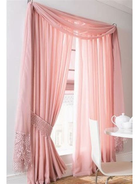 voile lace lined curtains complete set including macrame