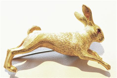 Hermes Kirby Set 2 In 1919 wonderful vintage hermes rabbit pin at 1stdibs