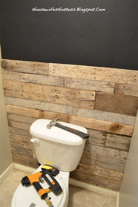 wood accent wall bathroom bathroom accent wall done here in pallett wood you could