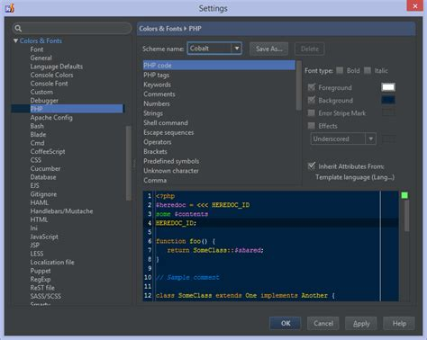 theme editor phpstorm ide and project settings in phpstorm phpstorm confluence