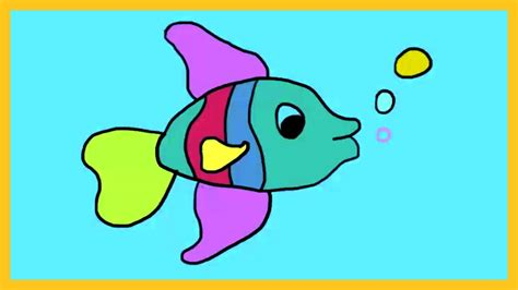 fish colors learn colors with fish how to color a fish by silly