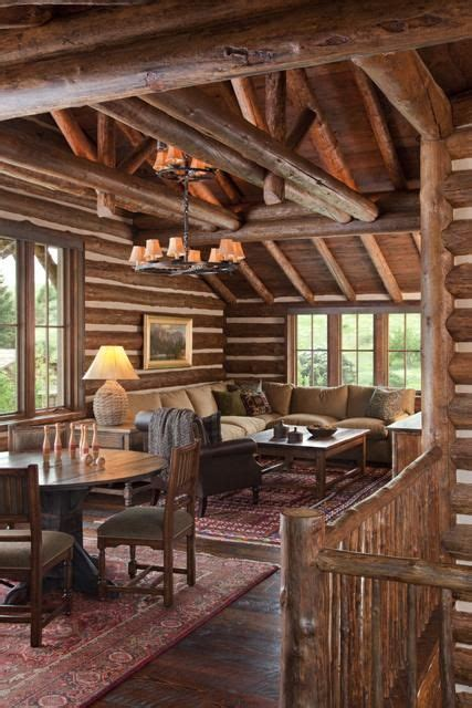 luxury log home interiors cabin cabin interiors and logs on pinterest