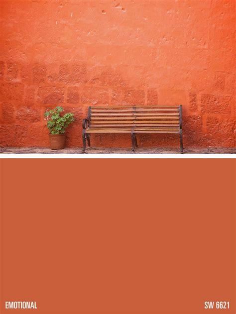 sherwin williams orange paint color emotional sw