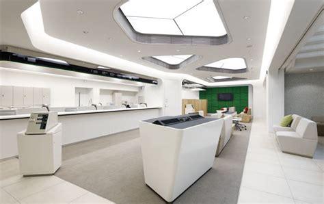 Office Desk Ideas spaceship command bridge meets retail bank branch smbc