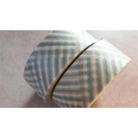Washitape Masking 10 washi masking zig zag bleu vert gris blanc