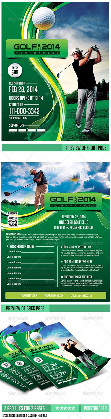 design a golf flyer golf flyer template 2 pages download the full psd flyer