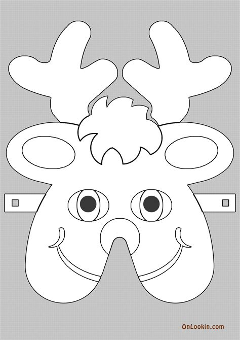 reindeer template cut out best photos of santa cut out template santa beard cut