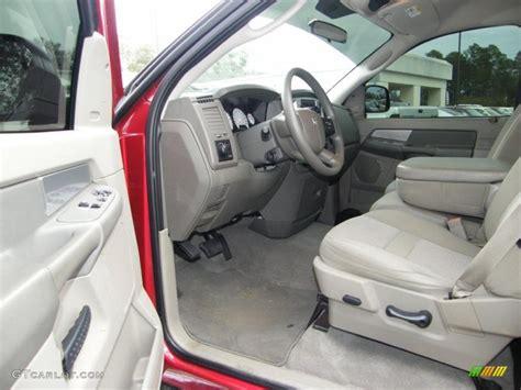 khaki interior 2008 dodge ram 1500 slt regular cab photo