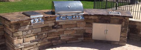 Outdoor Kitchen Concrete Countertop by Concrete Countertop Services In New Jersey Sanstone