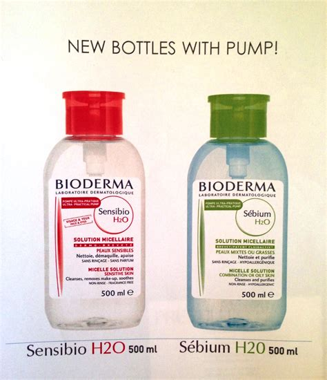 New Cleanses Bioderma Sensibio H2o Cleanses Bioderma Sebium H2o Bioderma Introduces New Bottles With Kelledstyle
