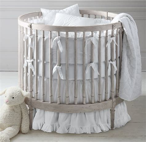 Crib Skirts Sold Separately by Frayed Ruffle Nursery Bedding Collection