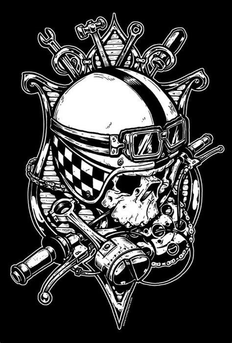 art  jeral tidwell biker art skull art