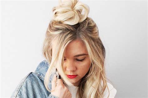 tutorial rambut simpel dan mudah tutorial cepat dan mudah membuat rambut high top knot agar
