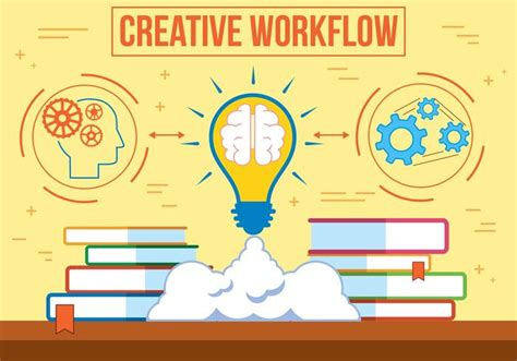 creative workflow free vector creative workflow free vector