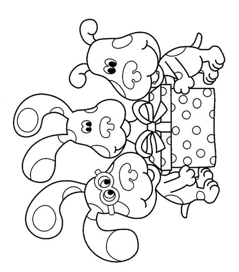 nick jr blue s clues coloring pages blues clues birthday color page nick s birthday ideas
