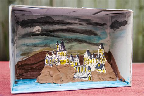 How To Make A Paper Diorama - how to make a diorama for a book report synonym