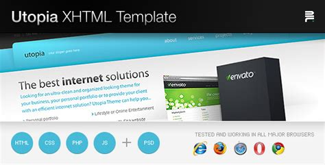 utopia xhtml template by aditivadesign themeforest