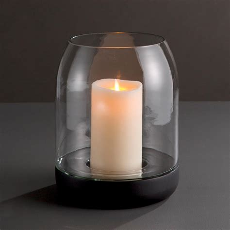 wicker park  hurricane candle holder plum post
