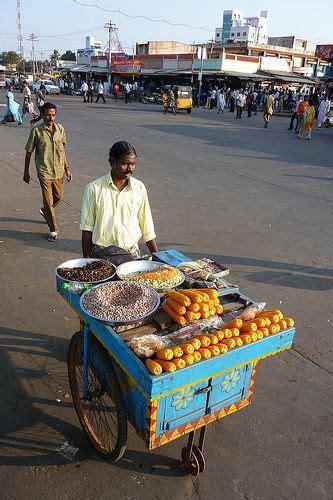indian cart food vendor thanjavur tamil nadu india pinterest
