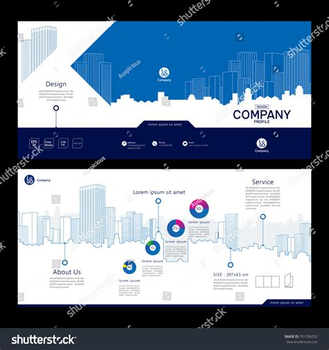 design company profile brochure brochure template design company profile concept stock