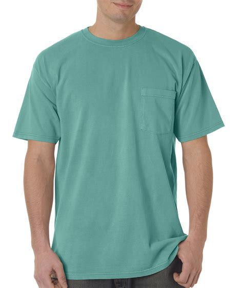 comfort color t shirt colors chouinard comfort colors 6 1 oz cotton pigment dyed pocket