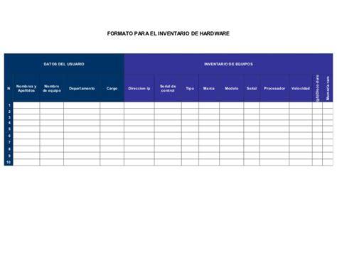 formato de inventario hardware software slideshare inventario de software