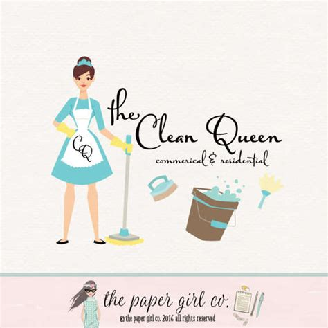 pin cleaning services logo on pinterest cleaning logo cleaning lady logo maid services by