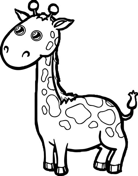coloring pages of cartoon giraffes baby giraffe free coloring pages of animals coloring