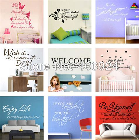 mix order wall quote decals vinyl wall stickers words