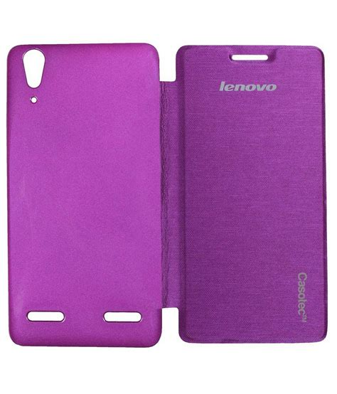 Lenovo A6000 Flip Cover Casotec Premium Flip Cover For Lenovo A6000 Purple Available At Snapdeal For Rs 399