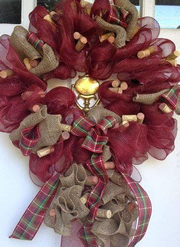 17 best images about wreaths for on wine cork trivet deco mesh wreaths and