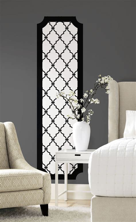 cool black peel and stick wallpaper roommates black and white trellis peel and stick deco