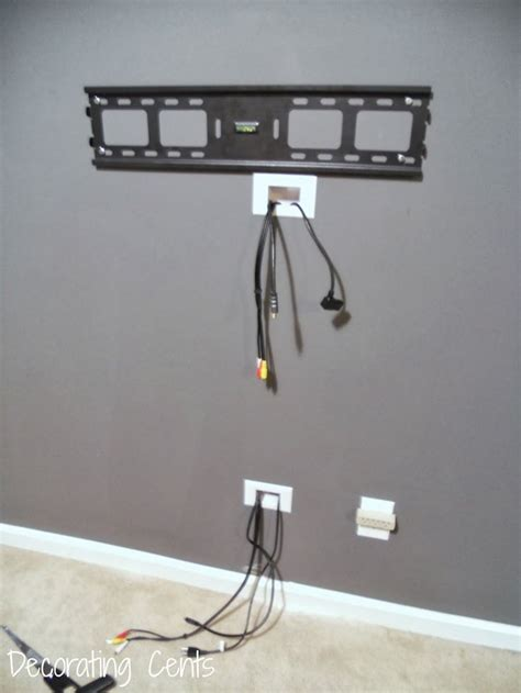 wall mounted l with cord decorating cents wall mounted tv and hiding the cords