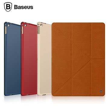 Baseus Terse Leather With Pen Bag For Pro Blue Pink Baseus Terse Leather Smart Cover Folding Stand For