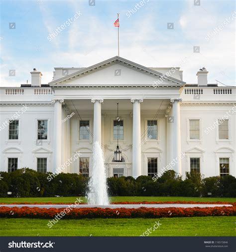 United States White House The White House Washington Dc United States Stock Photo