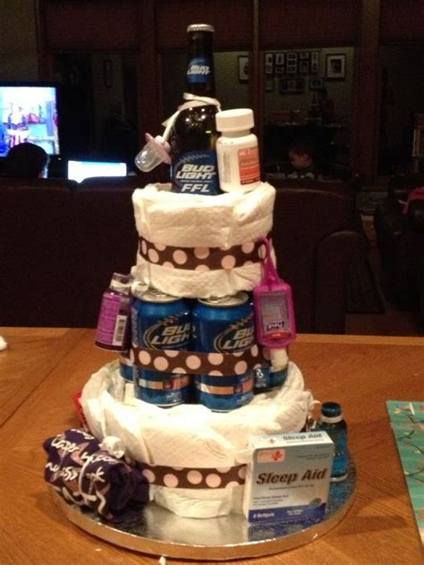 Diaper Cake For New Dad Fun  Ee  Ideas Ee   Pinterest The O