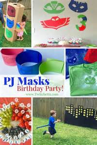 pj masks party ideas twitchetts