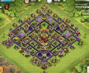 Best clash of clans town hall level 10 defense base design 7 jpg