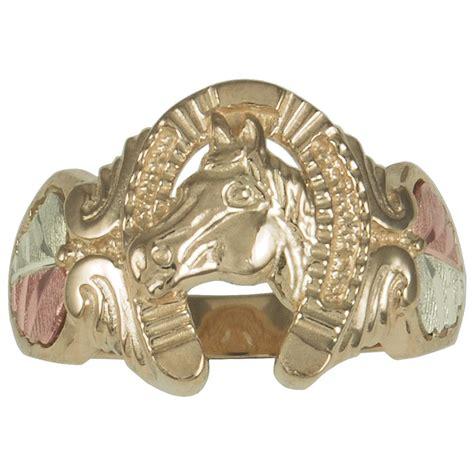 s coleman 174 black gold 10k gold horseshoe ring