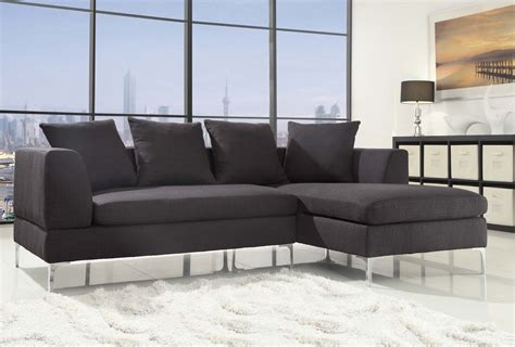 Linen Sectional Sofa Homelegance Zola Sectional Sofa Black Linen Like Fabric 9615 L R At Homelement