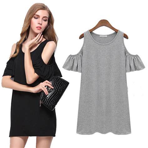 new black grey summer dress solid dresses sale o neck dress casual