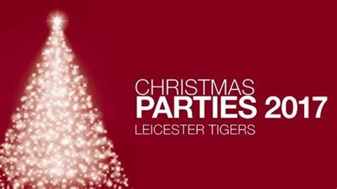 tis the season to book a christmas party leicester tigers