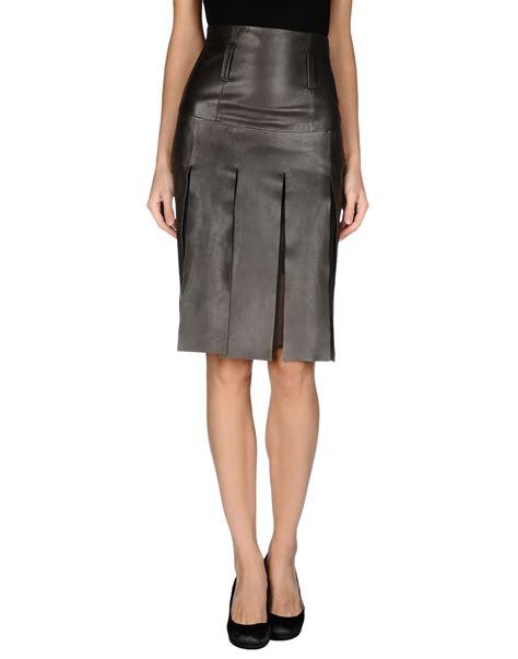 brown leather skirt schumacher leather skirt in brown dark brown save 36